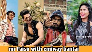 Mr Faisu new tiktok video with emiway bantai, riyaz, Jannat Zubair, nisha gurgaon an others