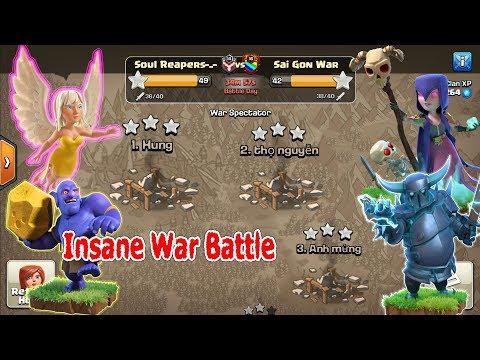 COC 3 star th11 Impossibles War Attacker, Soul Reapers Vs Sai Gon War, Nice WallBreaker