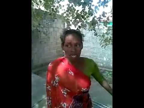 Funny old lady singing Tamil song