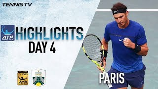Highlights: Nadal, Verdasco, and Del Potro Move On In Paris 2017