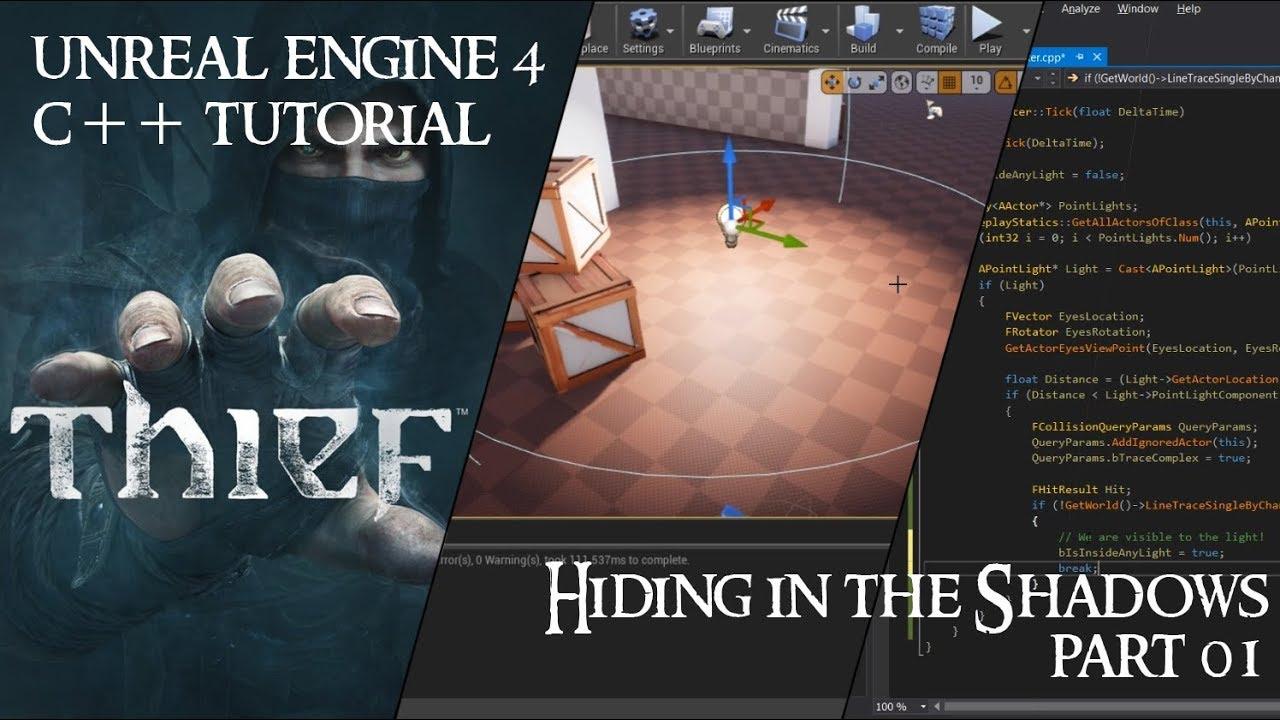 C++ Video Tutorial: Creating Thief's hiding in the shadows