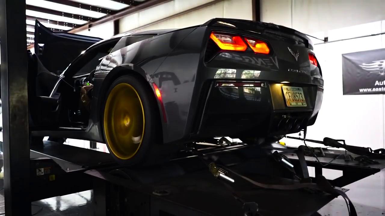 ARMYTRIX Stainless Steel Valvetronic Catback Exhaust System Quad Matte  Black Tips Chevrolet Corvette C7 14-19