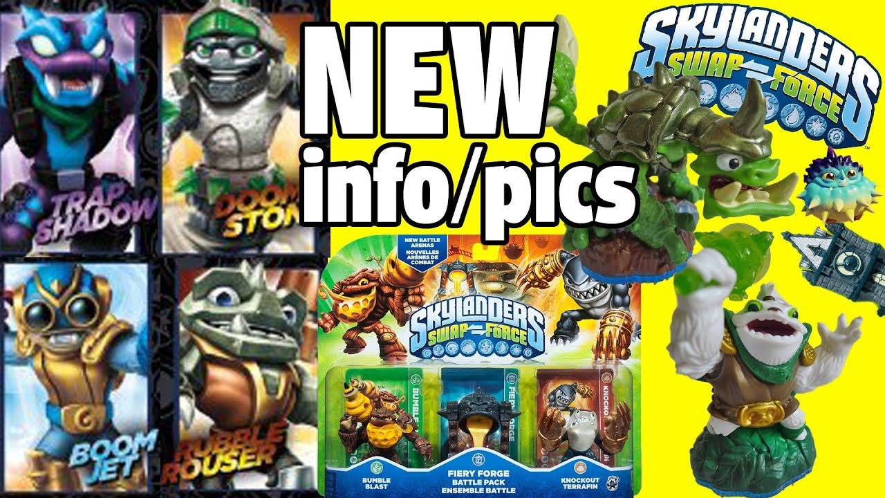 All Swap Force Characters! (Doom Stone / Rubble Rouser / Trap Shadow) New  Gameplay Screen Shots