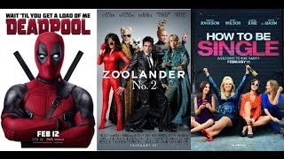 AJ's Movie Reviews: Deadpool, Zoolander 2 & How To Be Single(2-12-16)