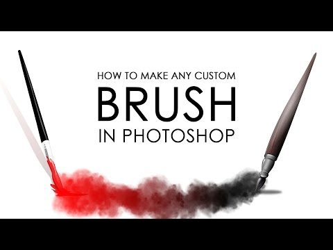 How To Make ANY CUSTOM BRUSH In Photoshop