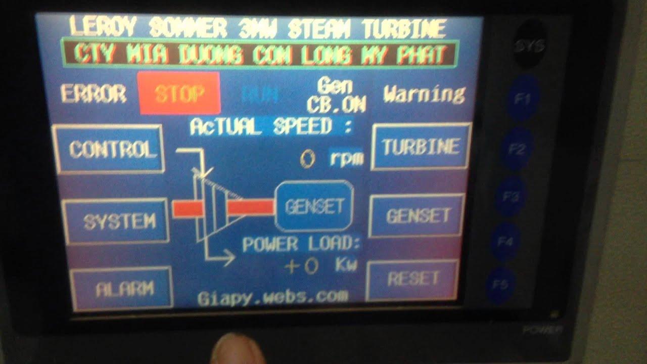 Testing Hmi control Steam Turbine 3Megawatt Genset