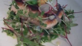 Michael's Restaurant Quillayute River Salmon, Honshemiji Mushrooms, Sugar Snap Peas, Crab Salad And Uni 4 21 10 Stills