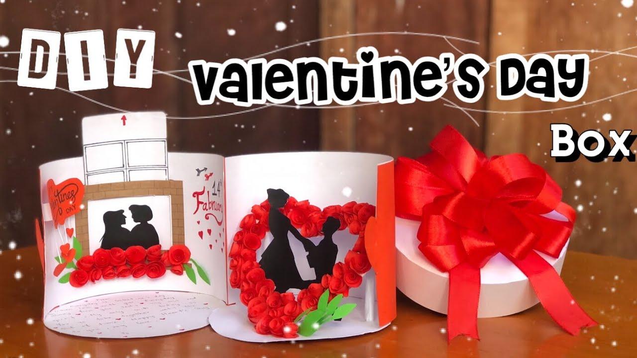 Diy Valentine S Day Gift Ideas Handmade Valentine Box Sokmeng Art And Craft Youtube