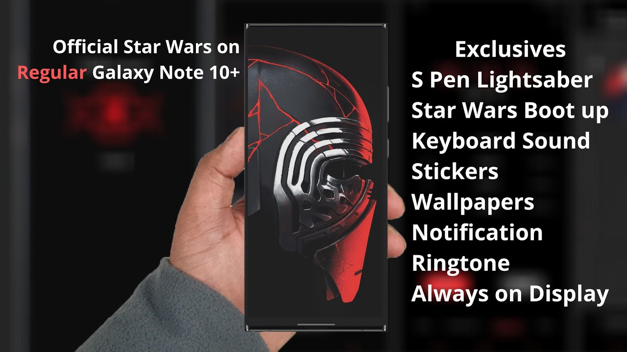 Turned My Galaxy Note 10 To Official Star Wars Rom Exclusives For Gsm