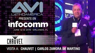 Visita a Chauvet durante  InfoComm Orlando 2019