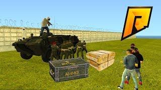 Самое ДЕРЗКОЕ вторжение с моей БАНДОЙ на военную часть RADMIR RP