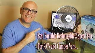 Rechargeable Fan for RV's and Camper Vans