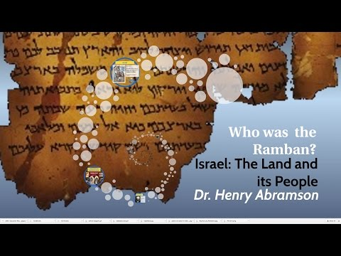 Who Was Nahmanides? Israel: The Land and its People