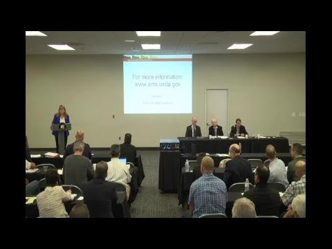 USDA – California Federal Milk Marketing Order Public Meeting