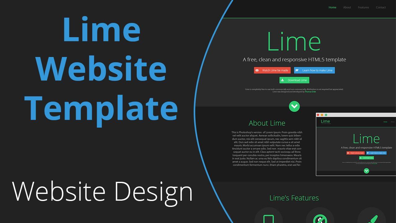 lime website template design speed art lime website template design speed art
