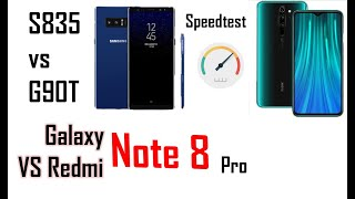 Speedtest Galaxy Note 8 vs Redmi Note 8 Pro
