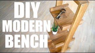 ✅  Eiche Beistelltisch -  Building Modern Bench -