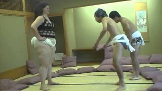 Repeat youtube video Very fat woman vs two Japanese men