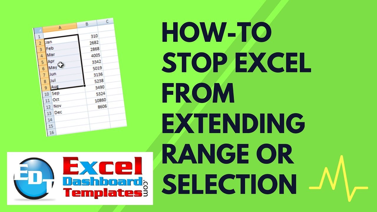 How-to Make Excel STOP Selecting Range/Extending Range