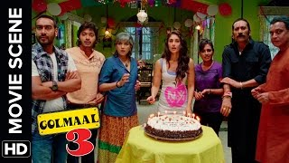 Happy Birthday Daboo | Golmaal 3 | Comedy Movie Scene