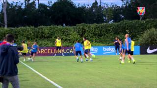 FC Barcelona training session: Preparing the International Champions Cup