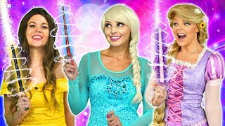 PRINCESS MAGIC WANDS. (MALEFICENT'S SPELL ON ARIEL, RAPUNZEL, ANNA AND BELLE) Totally TV Parody