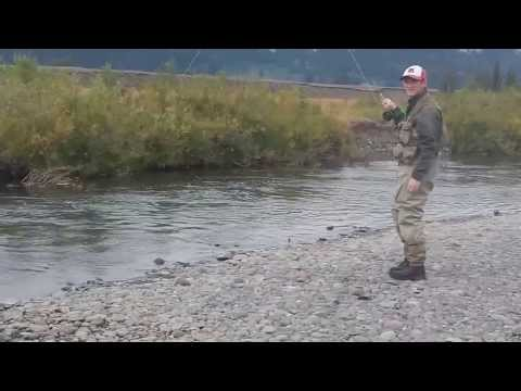 Fly-fishing Soda butte river in Yellowstone