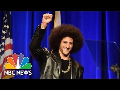 Former 49ers Quarterback Colin Kaepernick Honored By ACLU Of Southern California | NBC News