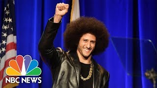 Former 49ers Quarterback Colin Kaepernick Honored By ACLU Of Southern California | NBC News