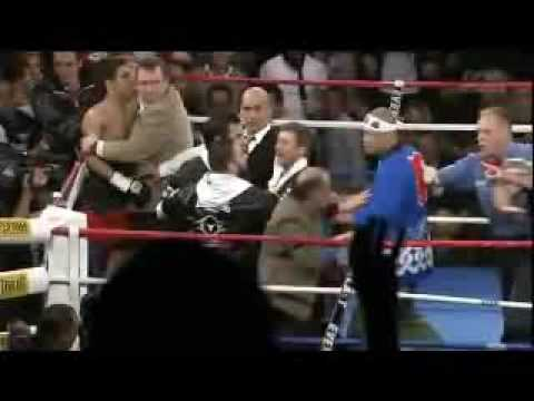 Cheap Shot Ends Boxing Match Loser is NOT Happy