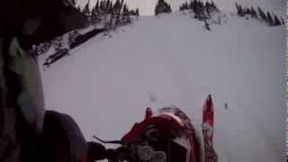 2012 M1100 Turbo Evo 285HP Chute Crash Valemount BC Canada Jan 2014