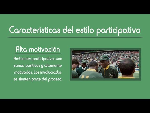 Invictus y el liderazgo participativo