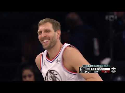Dirk Nowitzki Starts 2019 All Star Game on Fire From Three, Mic'd Up