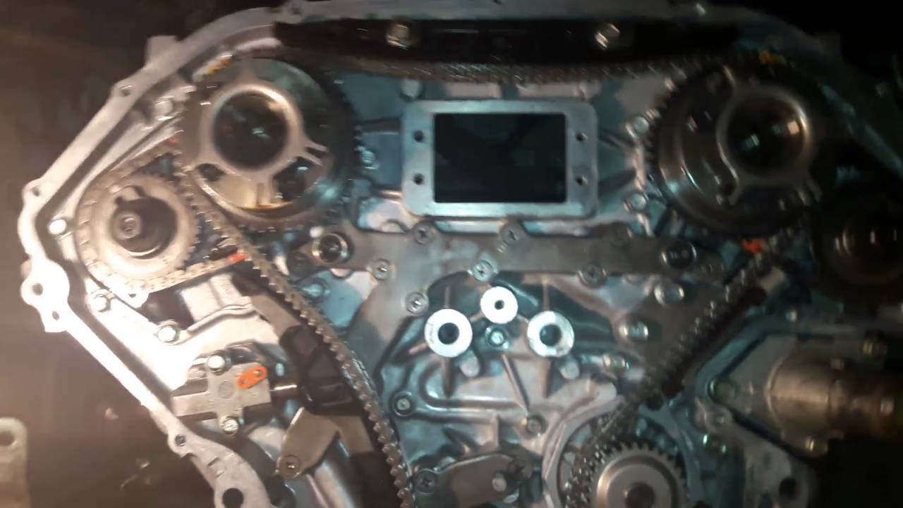 Service Manual  2009 Infiniti G37 Timing Chain Marks