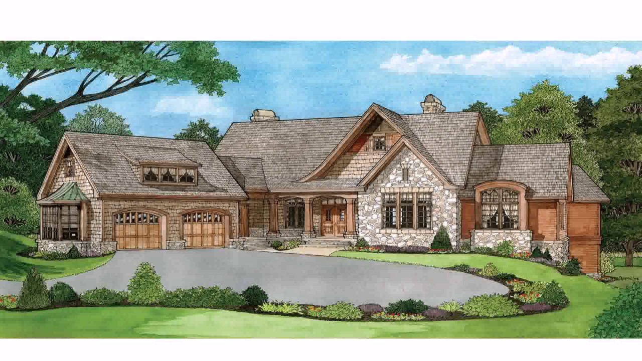 Ranch Style Home Plans Walkout Basement House Design Ideas