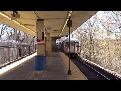 NYC Subway: Metropolitan Avenue-bound R42 (M) Entering Metropolitan Avenue (Track 2)