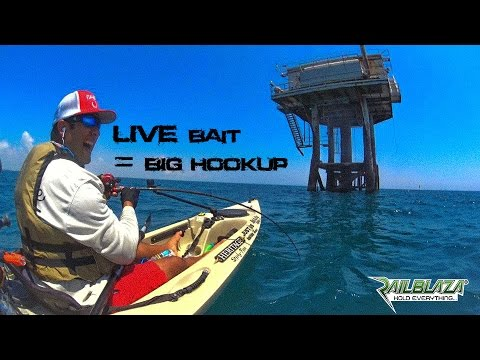 Kayak Fishing: OFFSHORE rigs PLUS mysterious big HOOKUP | #NextLevelFishingTV