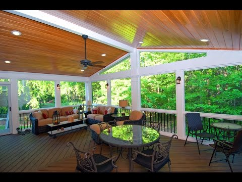 Deck Porch and Patio Porches with Trex Decking