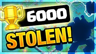 BEST BASE IN THE WORLD- STOLEN! 6000 Trophies- Clash of Clans Quest Complete!