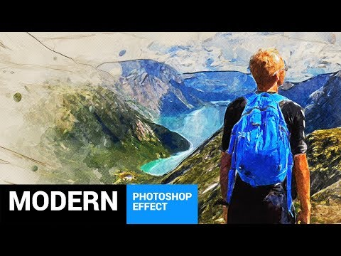 Modernum - Watercolor Art Photoshop Action Tutorial