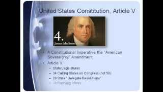 AMERICAN SOVEREIGNTY AMENDMENT SINGLE ISSUE CONVENTION ARTICLE V STATE LEGISLATURES