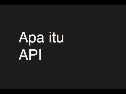 Apa itu API