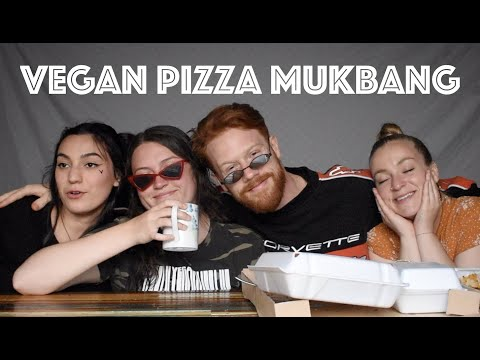 BAKERSFIELD PIZZA CO VEGAN MUKBANG