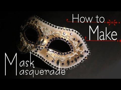 【DIY】🍷レジン マスカレードマスクの作り方🌹UV resin How to make masquerade mask👠