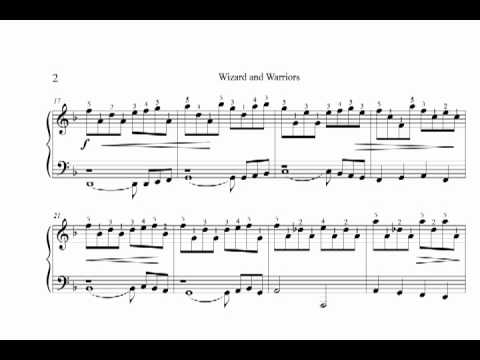 Re Wizard And Warriors Iii Piano Sheet Music Arrangement Youtube