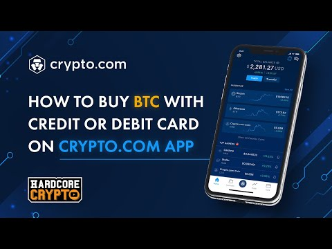 How To Buy Bitcoin With A Credit Or Debit Card On Crypto.com App