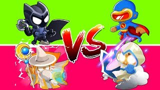 Bloons TD 6 - 4 - Player 2VS2 Marvel VS DC Superhero Challenge | JeromeASF