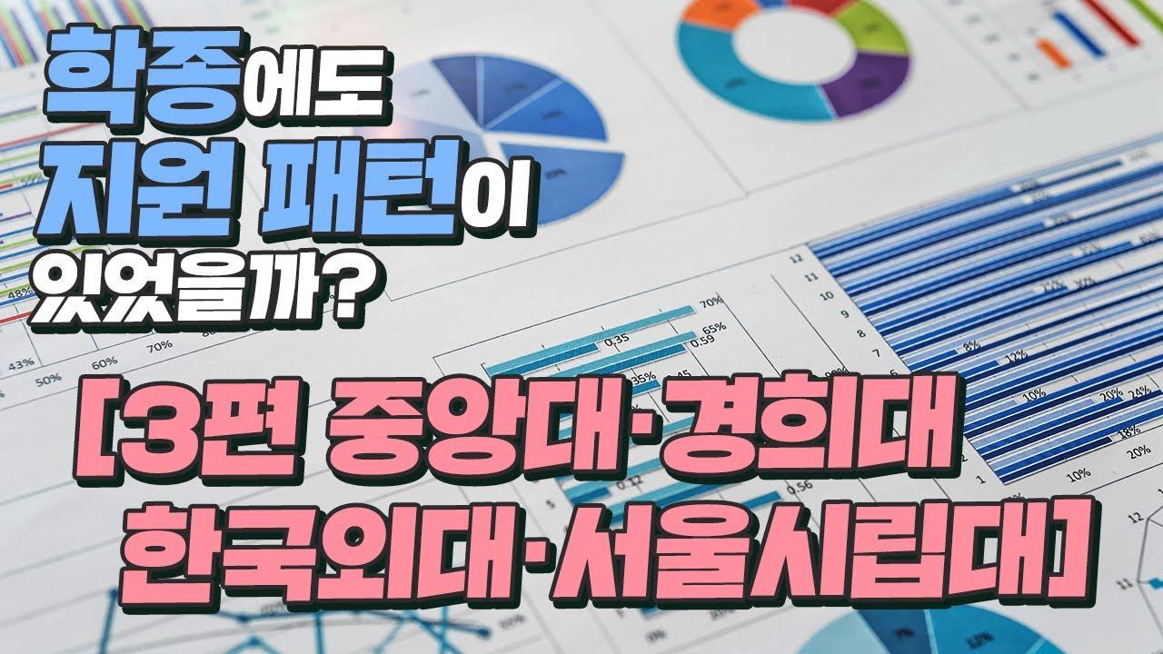 학종 대학별 지원 패턴!! 🤔 [중앙대·경희대·한국외대·서울시립대]