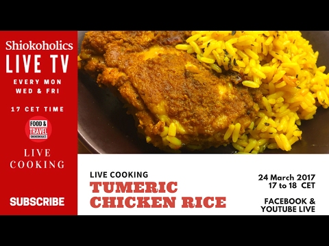🔴 Live Now : How to make Tumeric chicken rice