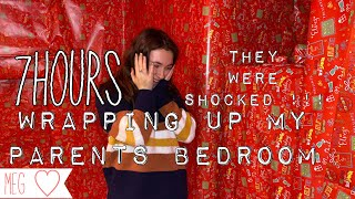 WRAPPING MY PARENTS BEDROOM | THEY WERE SHOCKED !!!